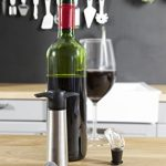 Vacu Vin Wine Saver Pump with 2 x Vacuum Bottle Stoppers and 2 x Wine Servers / Pourers - Stainless Steel