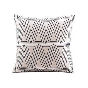 White-Triangle-Throw-Pillow