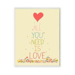 The Kids Room by Stupell All You Need is Love Rectangle Wall Plaque