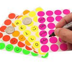 "3/4"" Round Labels, Assorted Fluorescent Colors Kit (5 Colors) 