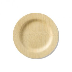Bambu 7-Inch Round Veneerware Plates, Package of 25