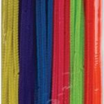 Creative Hands by Fibre-Craft - Fuzzy Stix Chenille Stems - 100 Pack - 12-Inch - Multicolored
