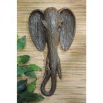 Design Toscano Animal Mask of the Savannah Wall Sculpture Elephant, Multicolored