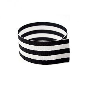 Grosgrain-Ribbon-Black-White-Striped
