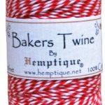 Hemptique Baker's Twine Spool 50-Gram, Red