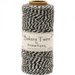 Hemptique Cotton Baker's Twine Spool 2 Ply, 410-Feet, Black