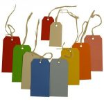 "JAM Paper® Gift Tags with String - Medium (4 3/4"" x 2 3/8"") - Red - 10/Pack"