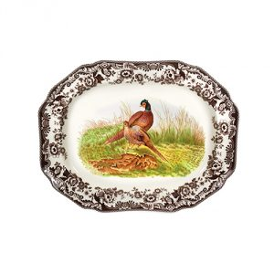 Spode Woodland Octagonal Platter with Pheasant