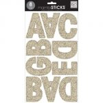 me & my BIG ideas mambiSTICKS Themed Stickers, Upper Case Alphabet and Numbers, Gold Glitter