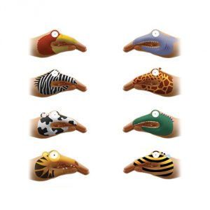 NPW Animal Hands Temporary Tattoos (8 Count)