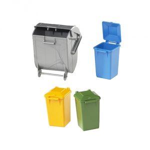 Bruder-Garbage-Can-Set