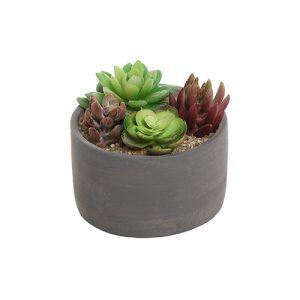 Gray-Cement-Flower-Planter-Pot