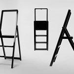 Step Ladder Designed by Karl Malmvall for MoMA in Black