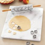 "Sur La Table White Marble Pastry Board HK165-50, 16"" x 20"""
