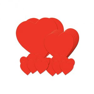 Idea 5 Printed Heart Cutouts