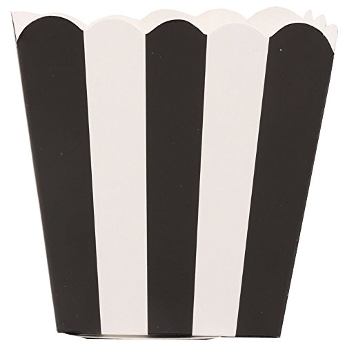 Popcorn Boxes - Black Striped