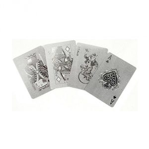 Kikkerland-Playing-Cards-Silver