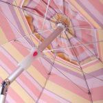 Argentario Red Stripe Umbrella