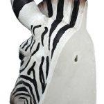 Zebra Head Wall Mount Bust