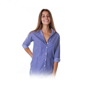 CAMIXA Pinstripe Tailored Stretch Cotton Shirt