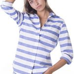 CAMIXA Oxford Cotton Striped Long Sleeve Shirt