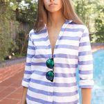 CAMIXA Oxford Cotton Striped Long Sleeve Shirt