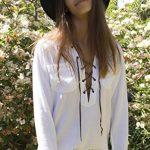 CAMIXA Soft Linen Lace-up White Shirt