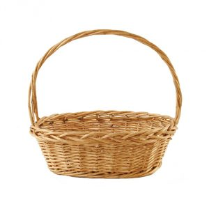 Oval Thick Willow Basket