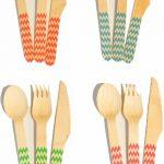 Chevron Wooden Cutlery