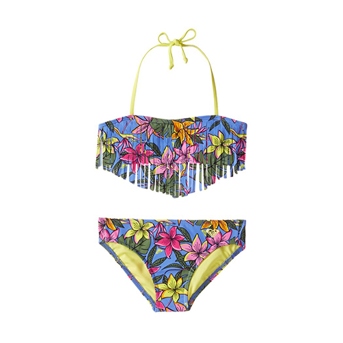 Roxy Girls' Hot Tropics Fringe Bikini