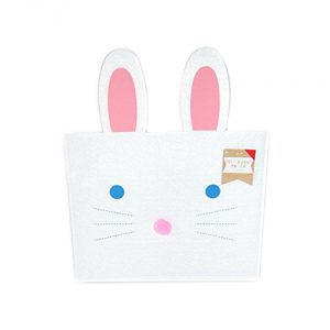 White Felt Bunny Envelope Pouch