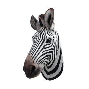 Zebra-Head-Wall-Mount-Bust