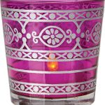 Glass Candle Holder - Pink