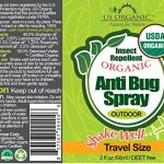 Organic Insect Repellent Travel Sprays