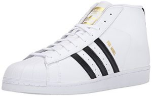 adidas Performance Men's Pro Model Basketball Shoe, White/Black/White, 9 M US