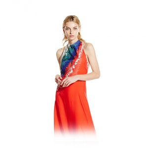 Baja East Tye Dye Halter Dress