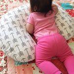 Boppy Nursing Pillow White Arrow Slipcover