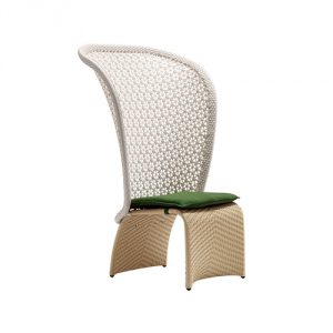 Exotica Dining High Back Chair - Forest Green
