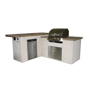 """L"" Shaped Outdoor Kitchen BBQ Station"