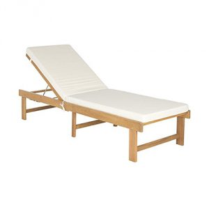 Lounge Chair - Teak Brown and Beige