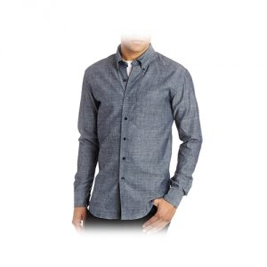 Men's Slim-Fit Chambray Shirt