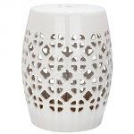 Ceramic Garden Stool - Cream