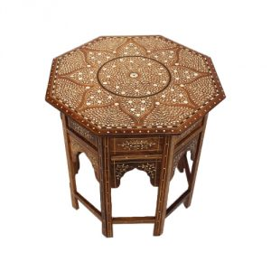 Bone-Inlay-Octagonal-Side-Table