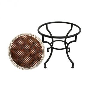 Brown-Round-Mosaic-Tile-Side-Table