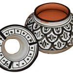 Moroccan Handmade Ceramic Ashtray - Black