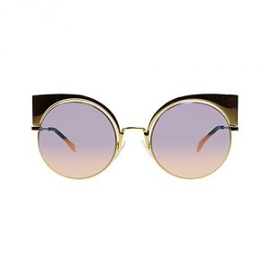 Fendi-Cat-Eye-Round-Sunglasses-Gold