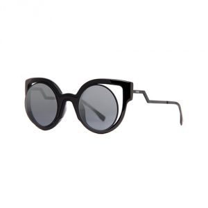 Fendi-Round-Cutout-Sunglasses-Black