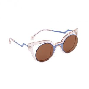 Fendi Round Cutout Sunglasses - Blue/Pink