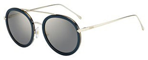 Fendi Funky Angle Round Sunglasses - Pink/Brown