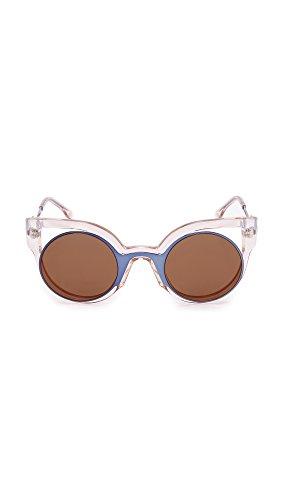 31ba2cda8b65 Fendi Round Cutout Sunglasses - Blue/Pink - Love the Edit